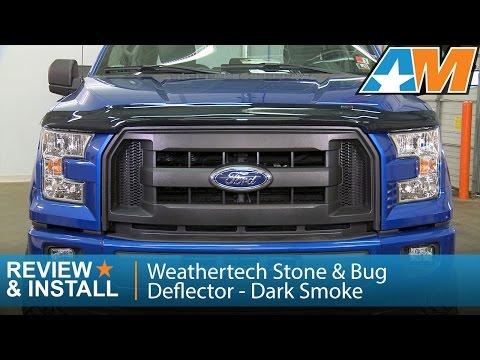 2015-2016 F-150 Weathertech Stone & Bug Deflector - Dark Smoke Review & Install
