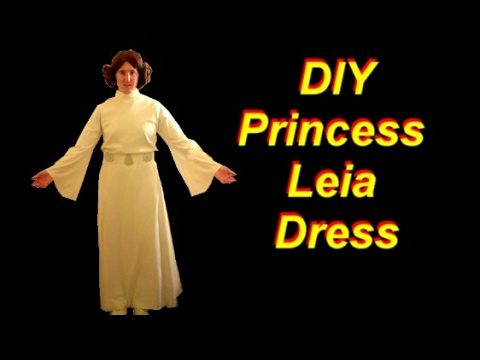 How To Make A Princess Leia Costume Part 2 The Dress Youtube