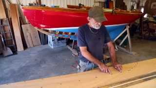 Part 8 - Herreshoff 12 1/2 Wooden Boat Repair - How To Easily Make Wooden Plank Patterns
