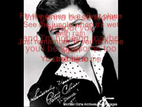 Patsy Cline You belong to me Lyrics