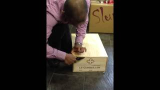 Opening Wooden Wine Box