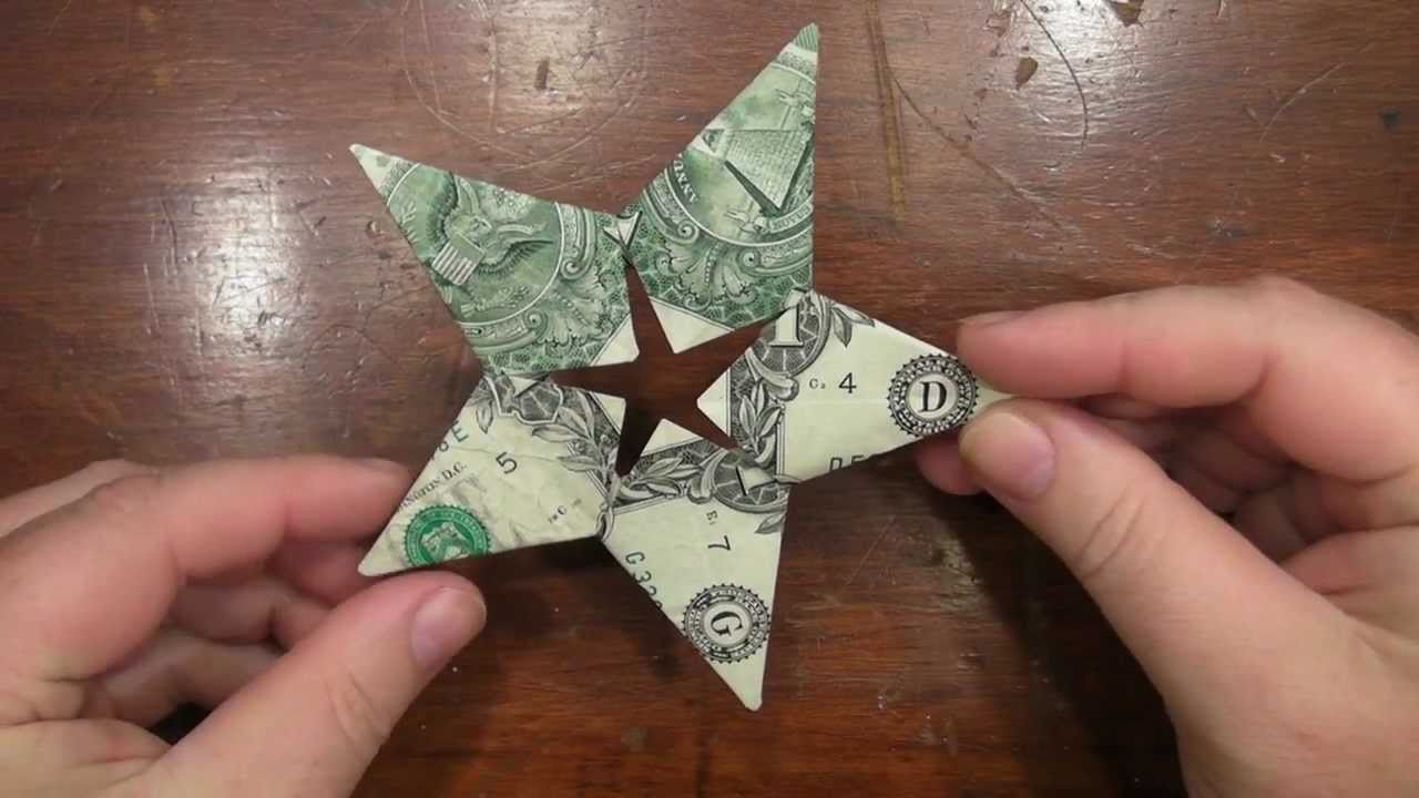 Vr To Origami Star Dollar With Five Us One Dollar Bills Youtube