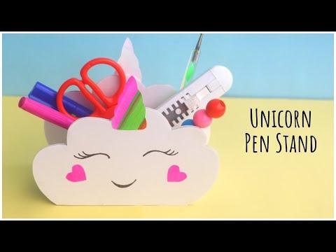 DIY Unicorn Pen Stand | Cardboard Crafts