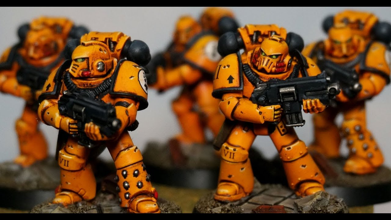 How to Paint 40k Imperial Fists Space Marines - YouTube
