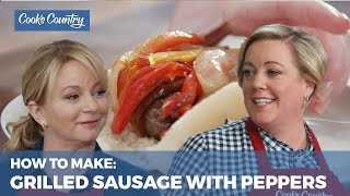 How to Make Grilled Sausages with Peppers and Onions