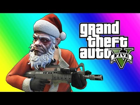 Thumbnail: GTA 5 Funny Moments - Christmas Shopping, Santa Claus, & Yacht Dive Glitch (Day Before the Snow)
