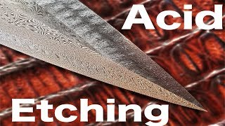 How to Get a Beautiful Etch for Your Damascus Blades