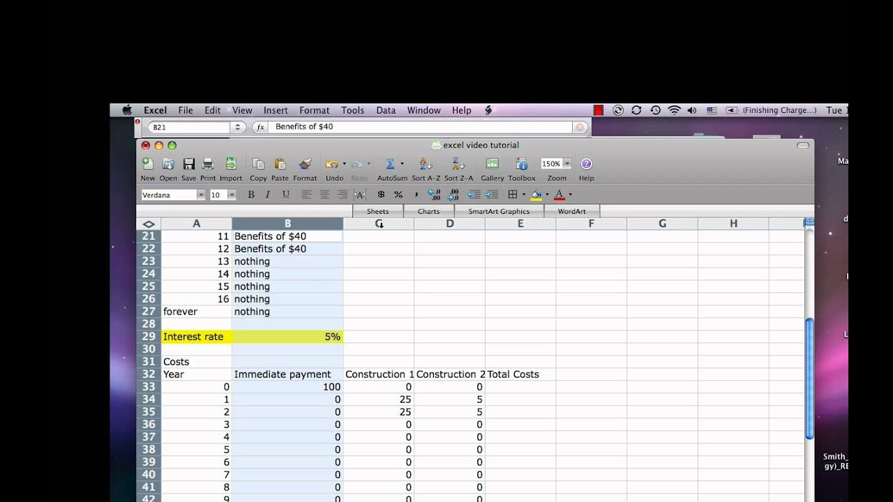 Excel cost benefit tutorial4 youtube alramifo Choice Image