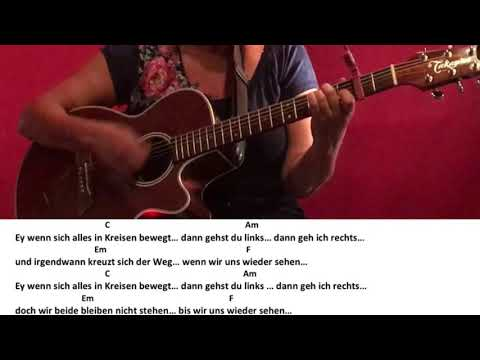 Kreise - Johannes Oerding / Guitar/Gitarre/Tutorial/Cover/Chords/Lyrics/easy