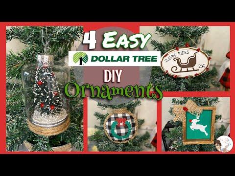 4 Easy Dollar Tree DIY Christmas Ornaments | KB Decor Crafts
