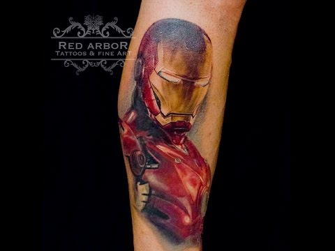 Iron Man Time Lapse Tattoo