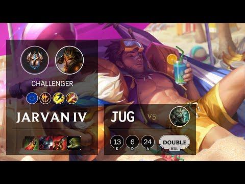 Jarvan IV Jungle vs Rengar - EUW Challenger Patch 10.16