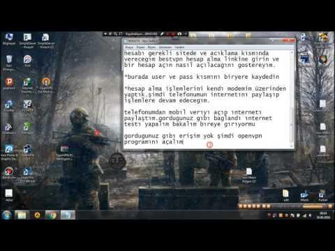 Turkcell OpenVPN İle Bilgisayardan Bedava İnternet 2016