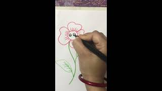 How to draw flower ,easy drawing for kids
