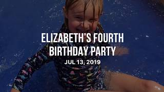 Elizabeth's Fourth Birthday Party
