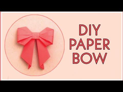 DIY Paper Bow Tutorial by Nehal Kasliwal | Handmade Bow |
