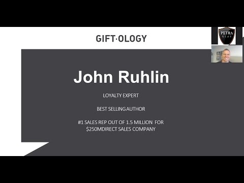 "Petra Coach Presents ""Giftology,"" a webinar with John Ruhlin"