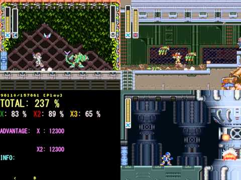 "Mega Man X, X2 and X3 ""Multi-Task 300%"" in 43:51"