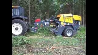 BioBaler harvesting Eucalyptus in Brazil 2012