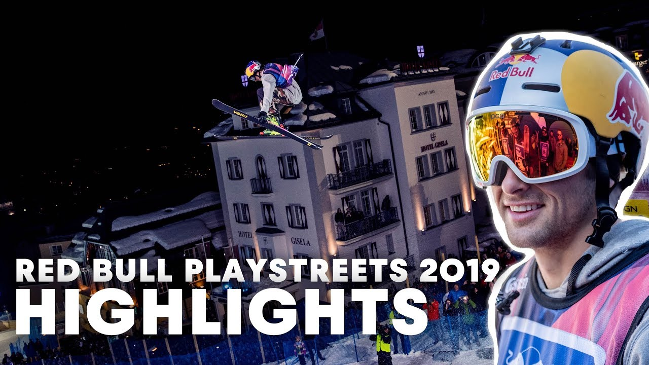 Slopestyle Skiing In Fairytale City | Red Bull PlayStreets 2019 Highlights