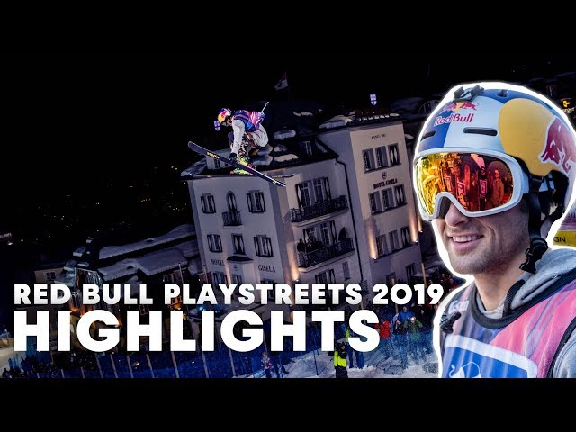 Slopestyle Skiing In Fairytale City   Red Bull PlayStreets 2019 Highlights