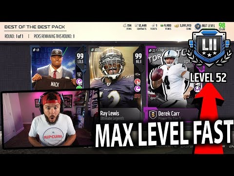 MAX LEVEL!! FREE COINS AND NEW PACKS!! FASTEST WAY TO LEVEL UP  MADDEN 18 PACK OPENING
