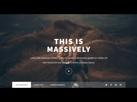 How To Customize HTML5Up Massively - A Free Responsive HTML5 CSS3 Website Template