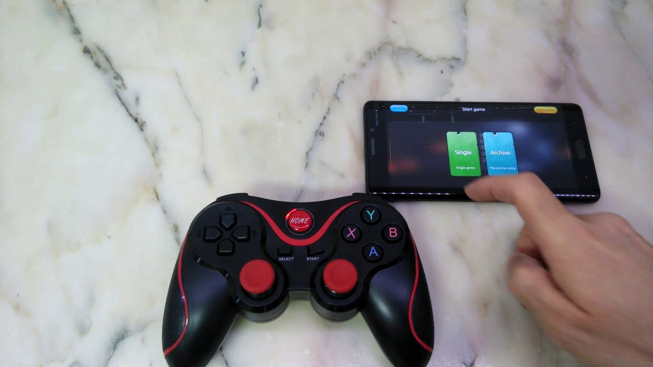How to connect T3 Wireless Bluetooth Gamepad to android phone - no root