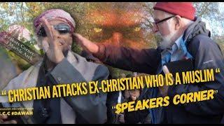 CHRISTIAN TRIES  MAGIC THEN PUTS HANDS ON MUSLIM  BR ZAK |SPEAKERS CORNER|