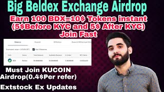 Big Beldex Exchange Airdrop instant 5$ without KYC ||EARN with KYC AND Refferals MORE BDX
