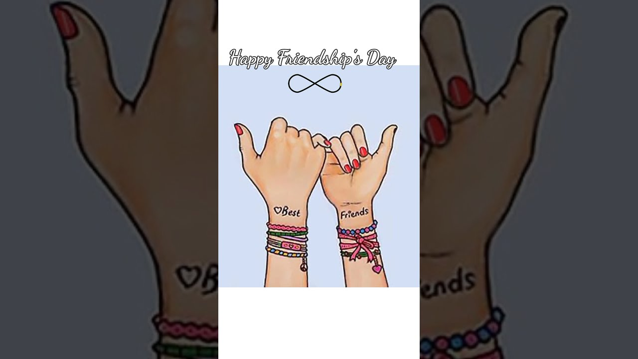 Friendship day special drawing || Best friends❤  #Shorts