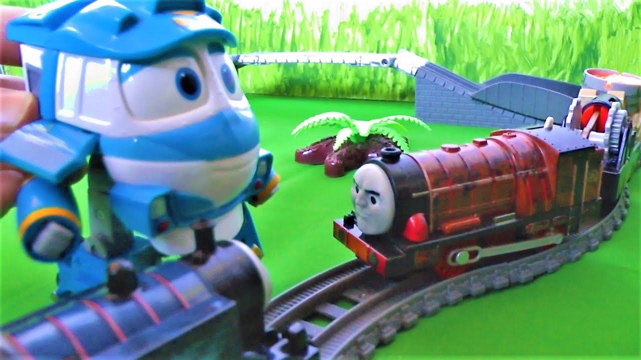 Паровозик Томас и его друзья попали в аварию Мультик для детей
