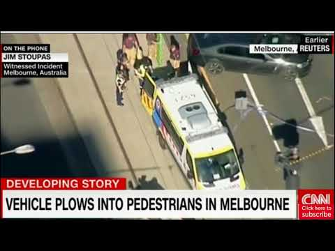 Latest news: Vehicle plows into pedestrians in Melbourne