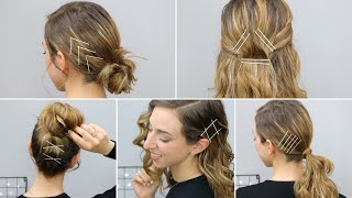 Acconciature con FORCINE ~ Hairstyles with Bobby Pins | Silvia Viscardi