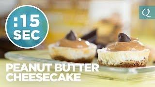 Peanut Butter Cheesecake - #15secondrecipe