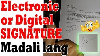 How to create Digital Signature Tagalog