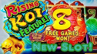 New!! Rising Coy slot machine- Can this fishy give me a slot win???
