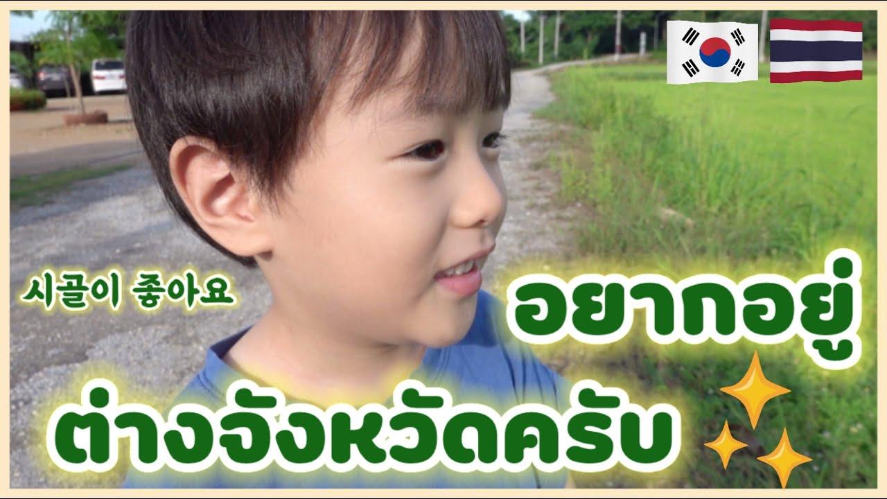 🇰🇷🇹🇭 ลูกครึ่งไทยเกาหลีอยากอยู่ต่างจังหวัด 💚   กาญจนบุรี   시골이 좋은 한태아이들