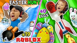 Roblox EGG HUNT 2017! 40 УТЕРЯННЫЕ ЯЙЦА! (FGTEEV Happy Easter Game)