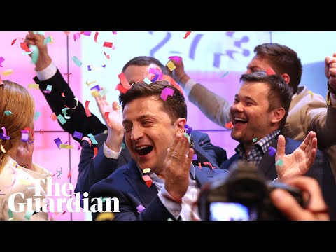 Ukraine election: Poroshenko concedes as exit polls show landslide victory for Zelenskiy