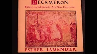 Decameron -  Ballate monodiques de l