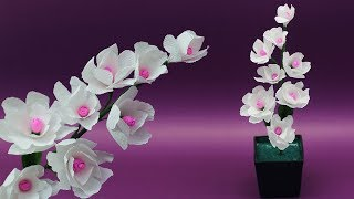 How to make Very Beautiful  Stick Flower By Crepe Paper | DIY Desk Decoration Ideas |Flower pot