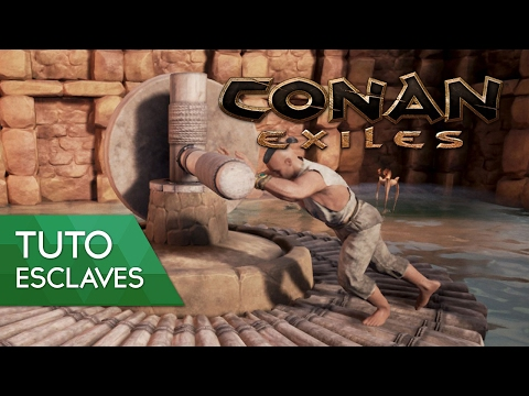 Conan Exiles Tuto FR : comment avoir des esclaves et les utiliser ?