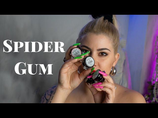 ΠΩΣ KANOYME ΕΥΚΟΛΑ ΣΧΕΔΙΑ! 💅🏾🕸 SPIDER GUM | BLACK VELOUR