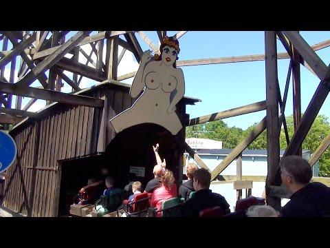 Rutschebanen POV Classic Wooden Roller Coaster Bakken Denmark
