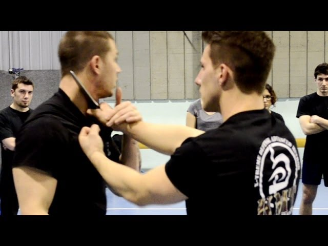 KRAV MAGA TRAINING • How to disarm a Knife to Throat (part 2)