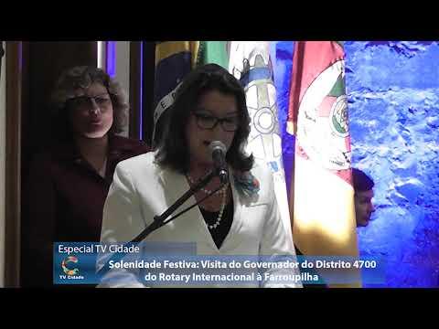 Rotary  de Farroupilha recebeu a Visita do seu Governador