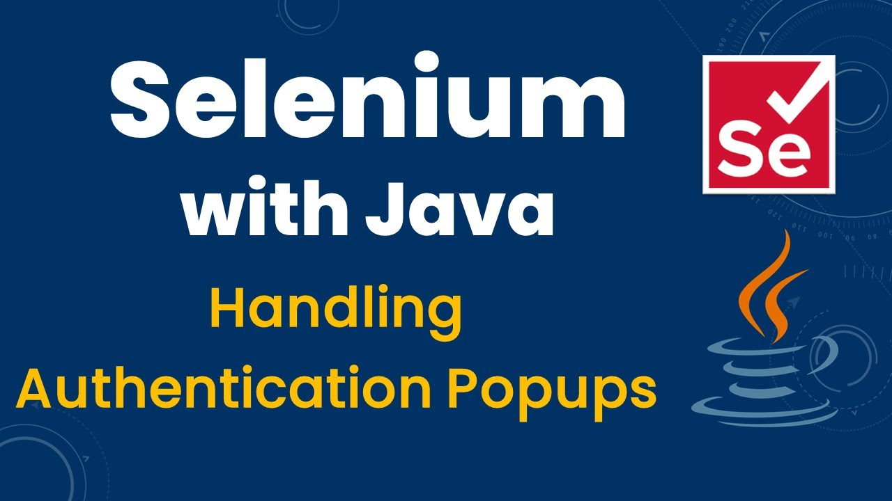 How to Handle Authentication Popup in Selenium Web Driver