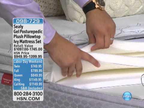 Sealy Ivy Gel Posturepedic Plush Pillowtop Mattress Set