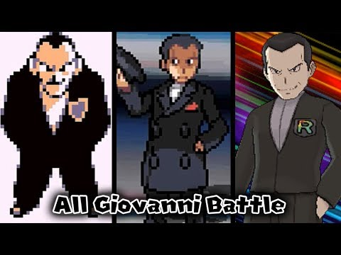 Pokémon Compilation: All Giovanni Battles【RBY - USUM】[HQ]
